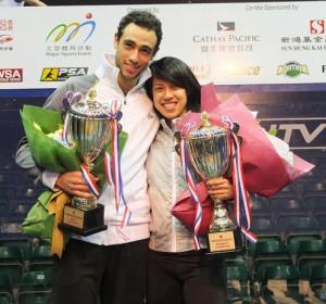 Ramy Ashour and Nicol David
