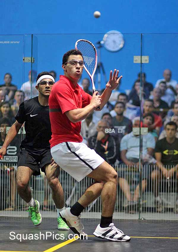 EYE ON THE BALL: Egyptian ace Fares Dessouki  in action in Poland