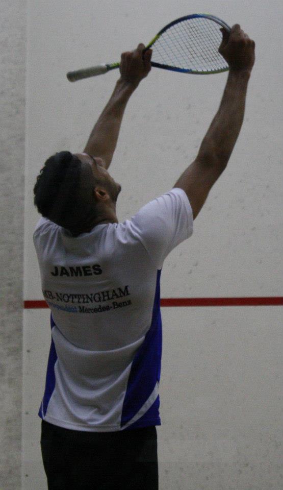 Declan James celebrates his success at Nottingham