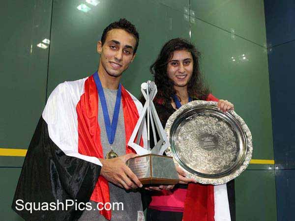 Karim El Hammamy and Nour El Sherbini