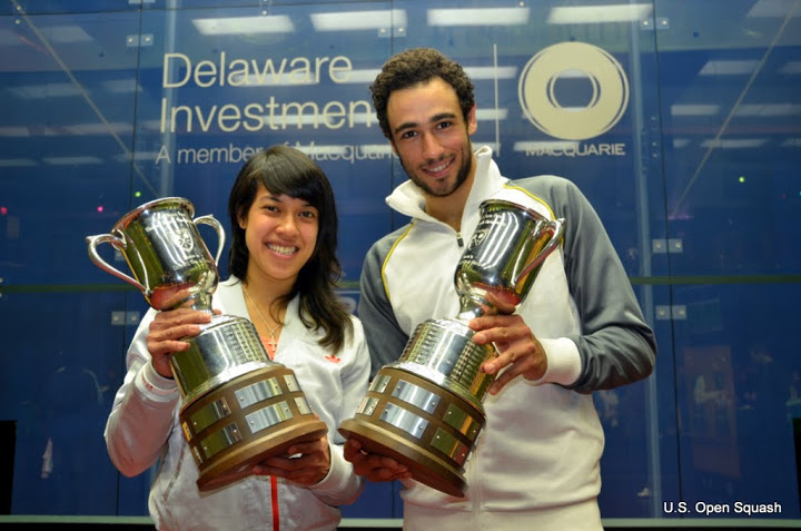 Ramy Ashour and Nicol David have been enthusiastic ambassadors for the Squash 2020 bid
