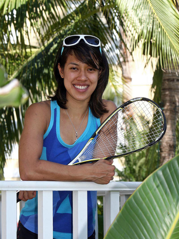 Tireless Olympic campaigner Nicol David. Picture by STEVE LINE (squashpics.com)