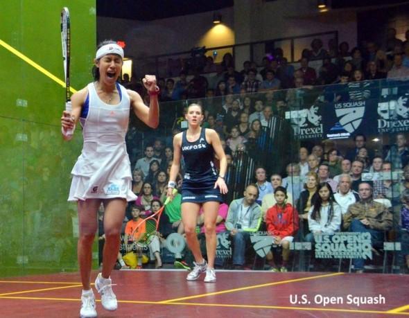 Nicol David savours her moment of triumph