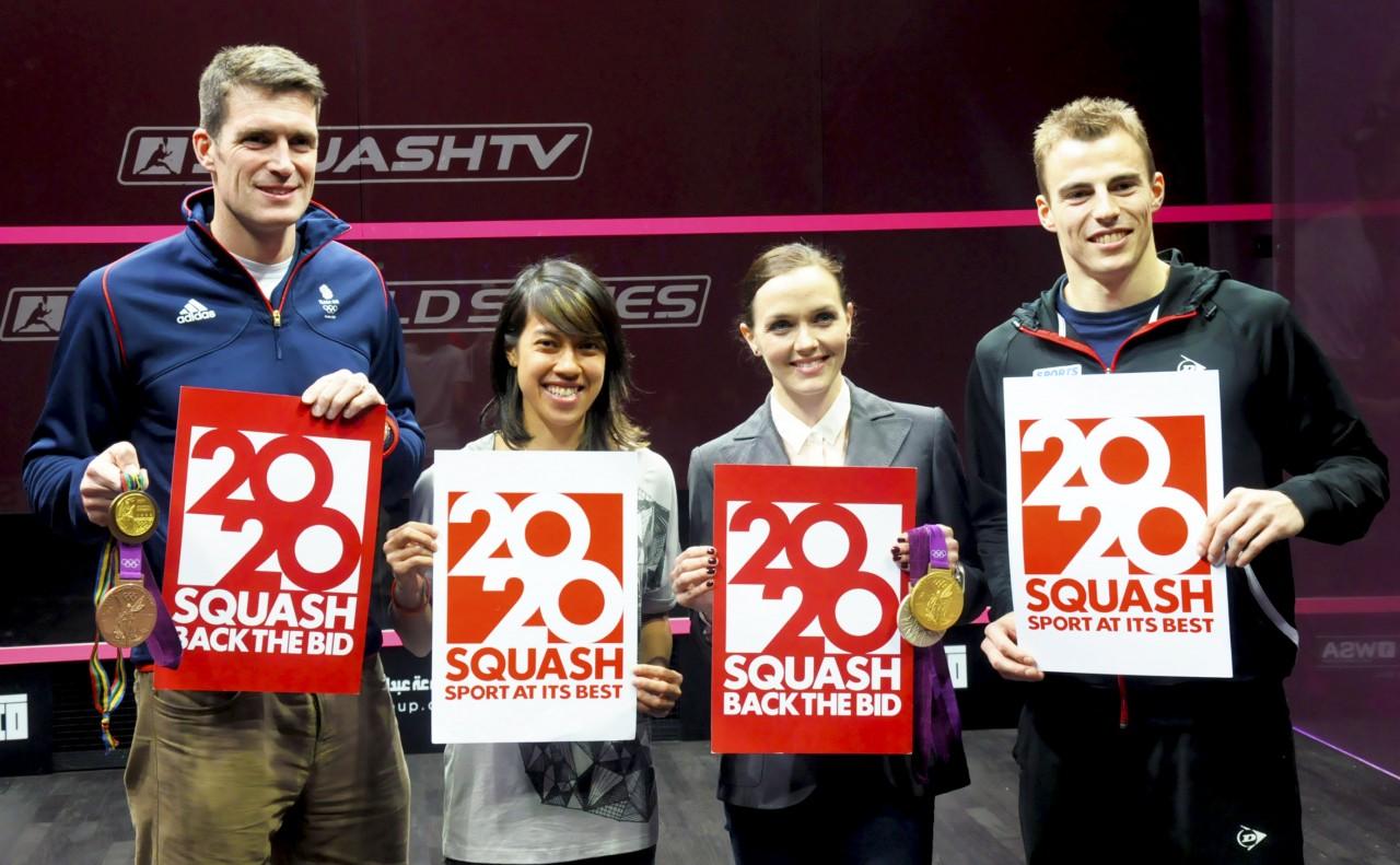 Nicol David et al shows support for squash's 2020 bid