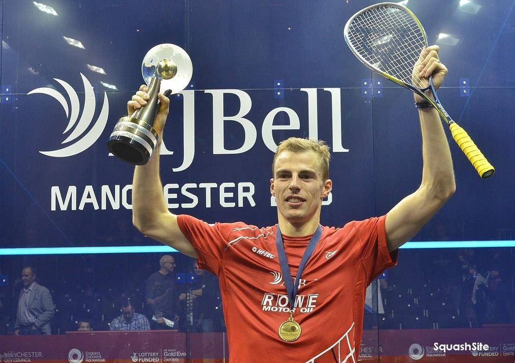 CHAMPION: Nick  Matthew celebrates his third world title
