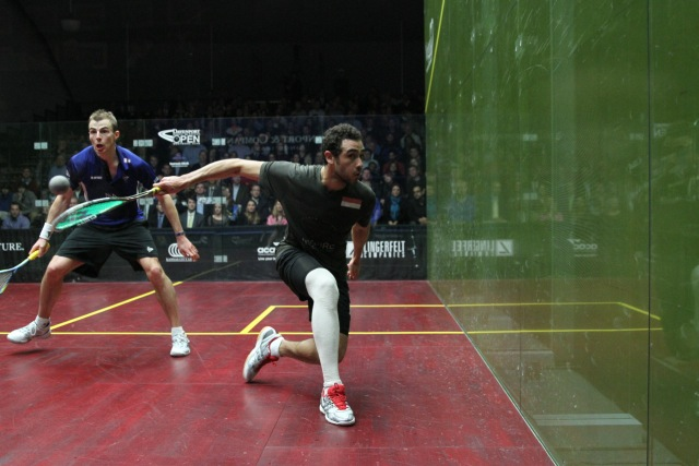 Ramy Ashour has played throughout 2013 with his leg strapped to protect his leg from further damage