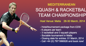 Sign up for Squash & Racketball Festival in Malta