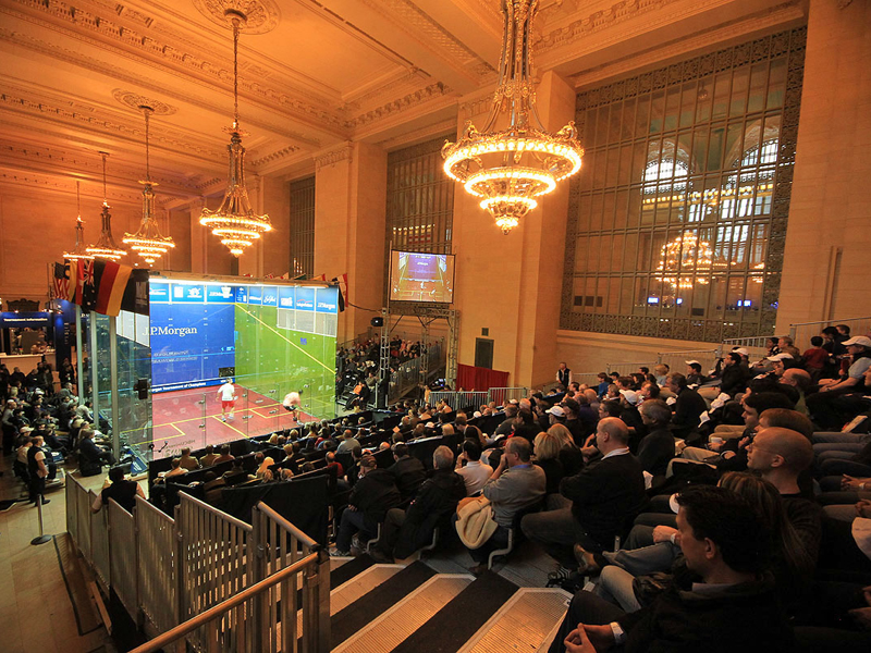 The McWil court in Grand Central Station ... but mind those chandeliers