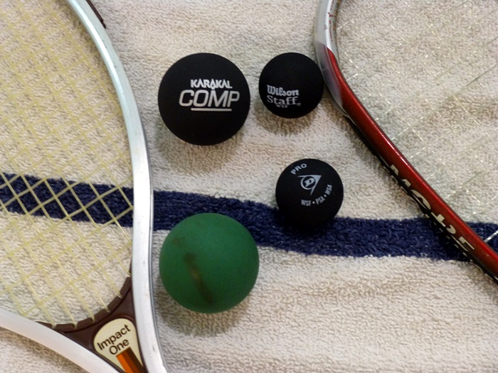 ON THE BALL: Americans are trying out the English version of racketball ... and loving it!