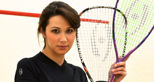 Miss Malta warms up for Squash Med Festival