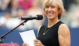 Navratilova tipping Nicol for Laureus challenge