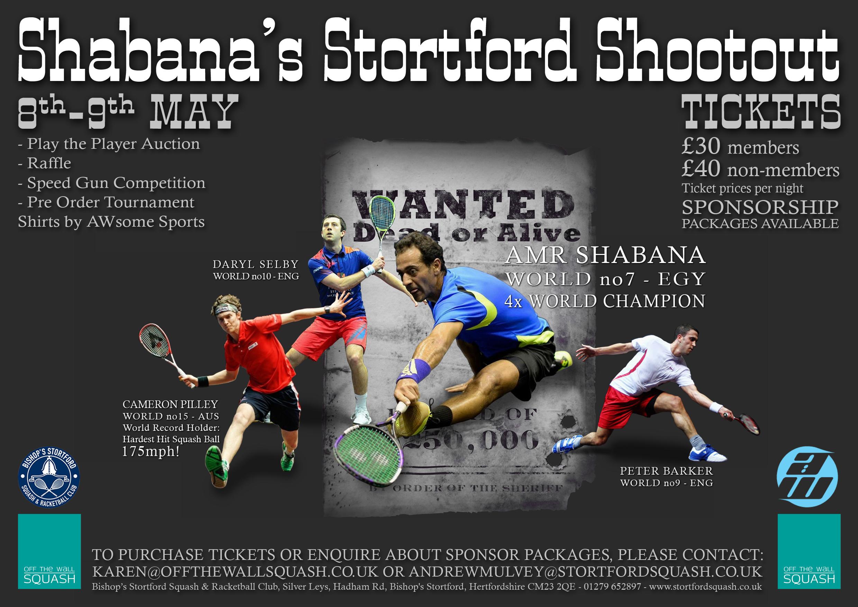 Squash Mad A3 Shootout Poster