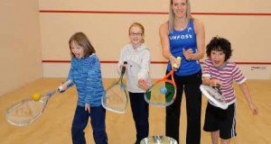 World champion Laura Massaro hits the road, hits the headlines, and hits a few squash balls