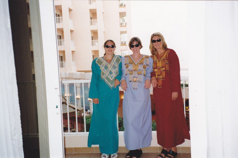 Party time in Hurghada for Cassie, Carol and Michelle Martin