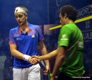 James Willstrop doesn't look too happy as he loses the final to Ramy Ashour