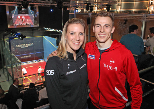 World champions Laura Massaro and Nick Matthew