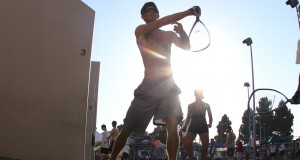 Fun in the sun as racquetball moves outdoors