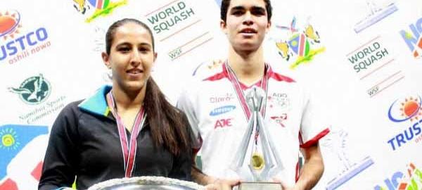It's slam Diego and happy Habiba at world juniors