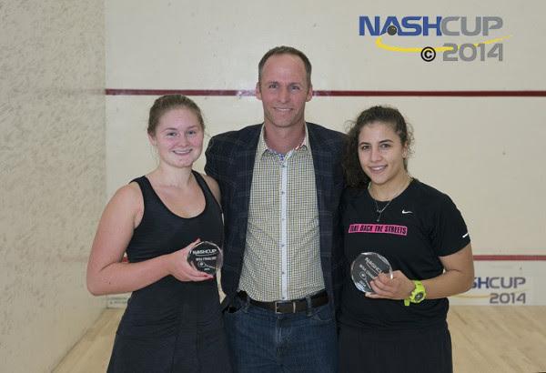 Kanzy El Defara and runner-up with Mr Nash
