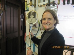Vicki with a 1979 Oliver racket