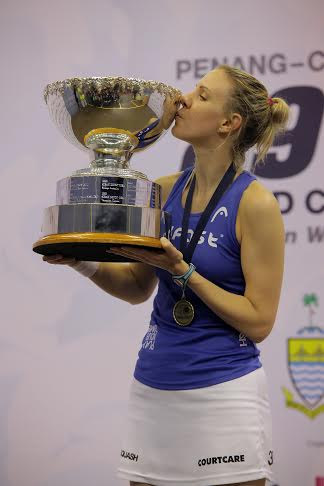 Laura Massaro wins the world title in Penang