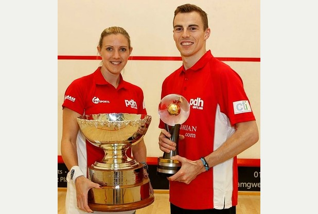 England produced two world champions in Nick Matthew and Laura Massaro