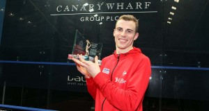 Canary Wharf countdown with reigning champion Nick Matthew
