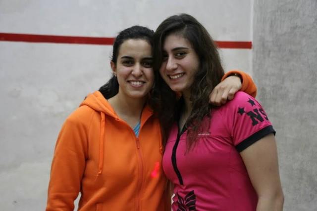 Nour El Tayeb and Nour El Sherbini (right)