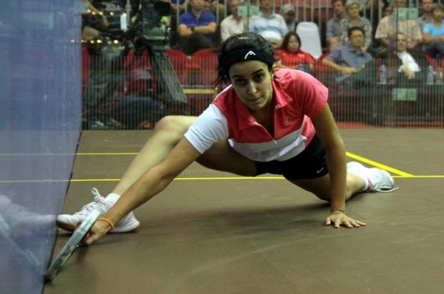 Nour El Tayeb is an extraordinary mover on the squash court
