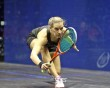 Laura Massaro and Sarah-Jane Perry fly the flag for England