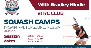 Brad Hindle leads squash camps in St Petersburg