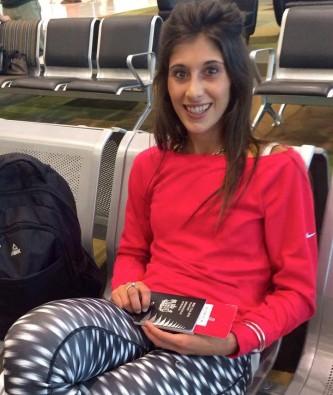 Megan and her passport