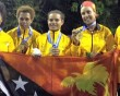 Triple Pacific Games gold for teen Lynette Vai and Nicolas Massenet