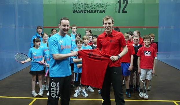Squash in safe hands: Nick Taylor (left) and Chris Lengthorn