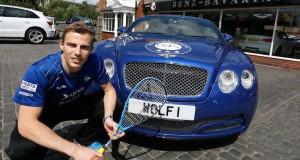 Nick Matthew unveils the 'Wolf Bentley Titan'