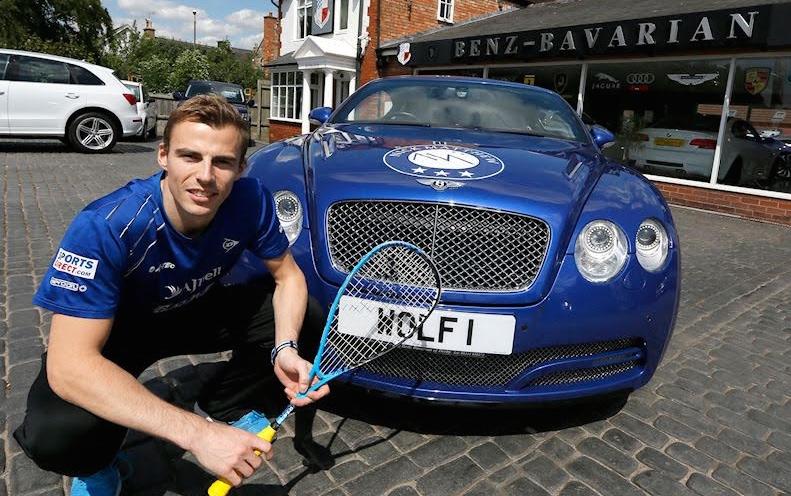 Squash Mad Nick Matthew Unveils The Wolf Bentley Titan