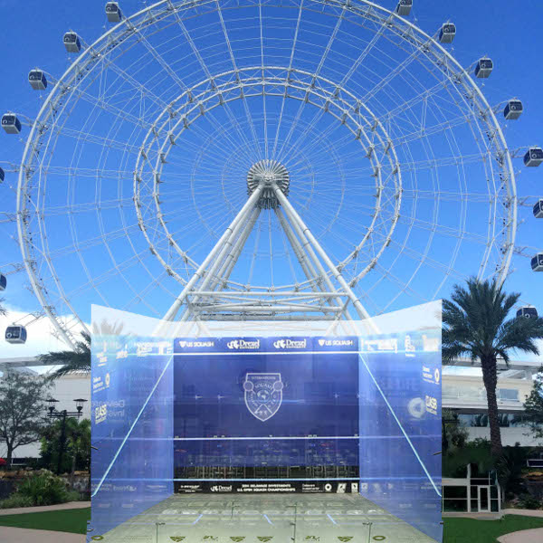 The court to be set up close to the Orlando Eye