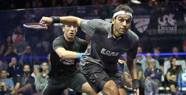 Mohamed Elshorbagy overpowers Mathieu Castagnet