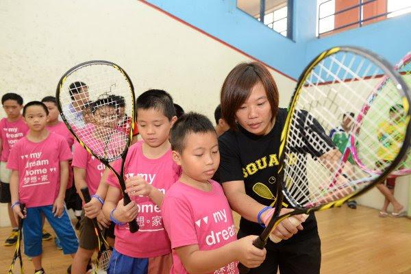 Sharon Wee offers some coaching tips in Kuala Lumpur