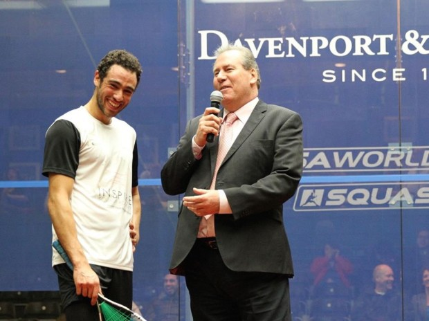 Alan and Ramy enjoy a chat in America