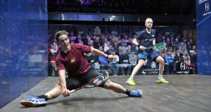 Squash rally goes viral as Kiwi Paul Coll dives around the court