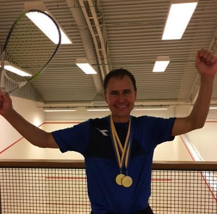 Champion again: Fredrik Johnson celebrates his 50th Swedish title