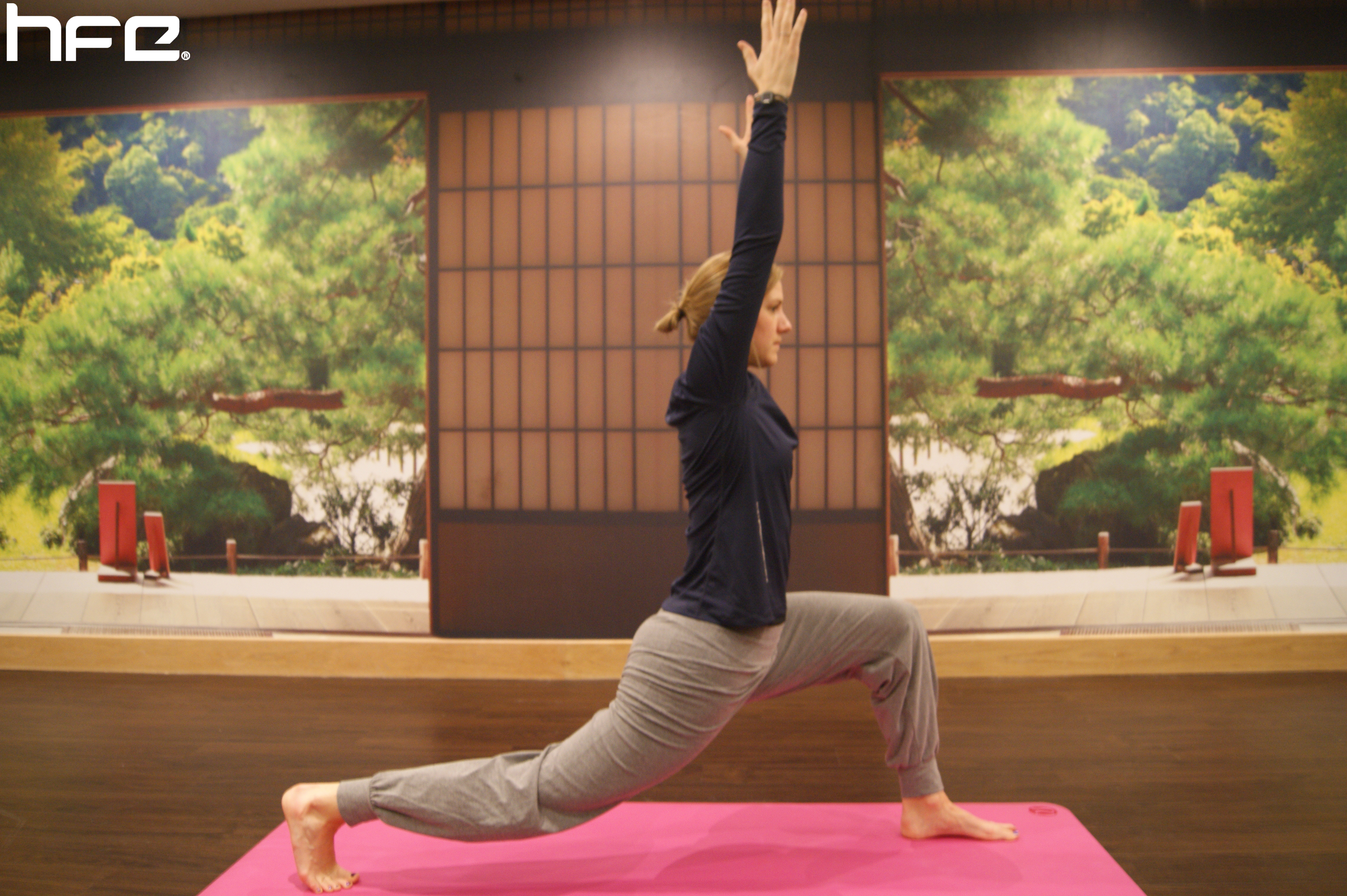 Laura lunges in this yoga pose
