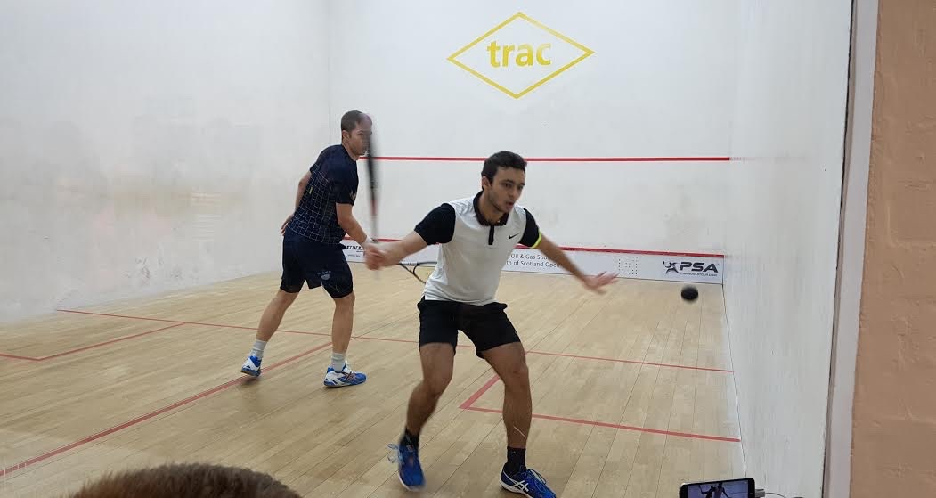 Youssef Soliman in action in the final