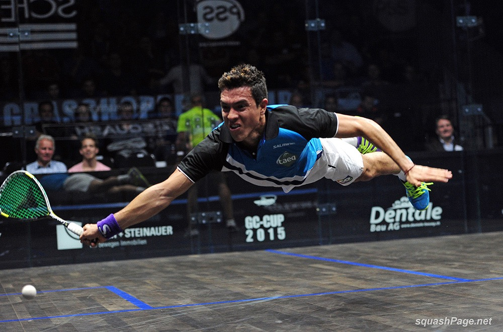 Squash is TV friendly, with Miguel Rodriguez, the great diver, hugely popular