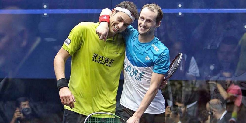 World number one Mohamed Elshorbagy and world champion Gregory Gaultier clearly love their job