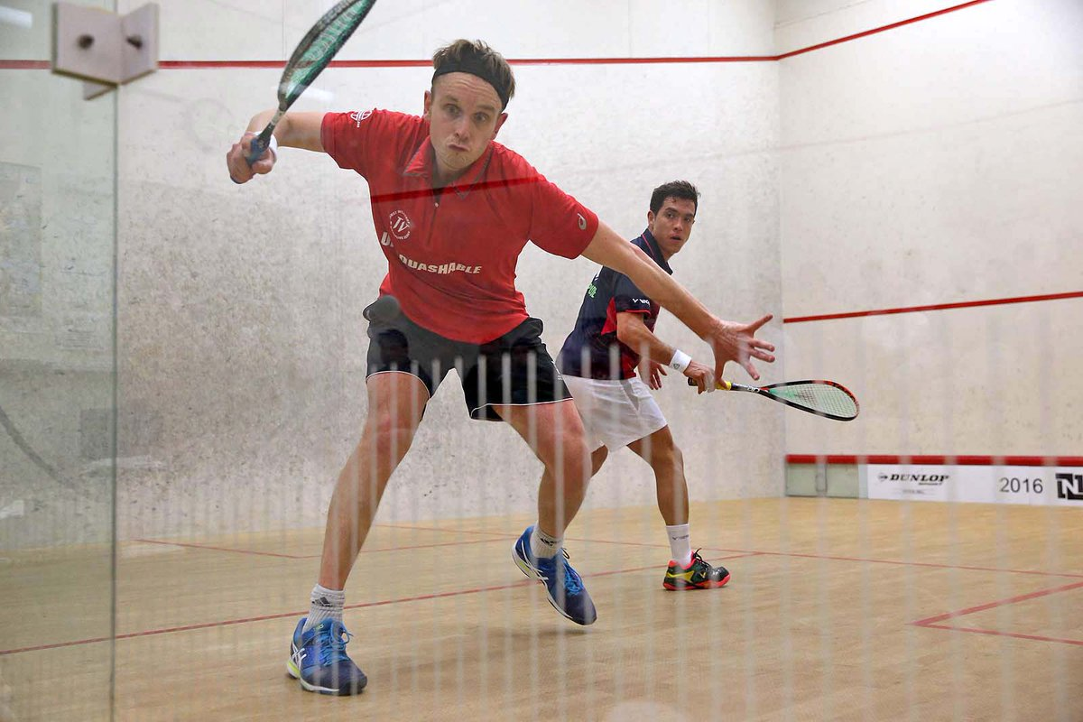 James Willstrop in action against Miguel Rodriguez