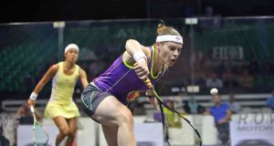 Sarah-Jane Perry powers past Nicol David at the Pyramids