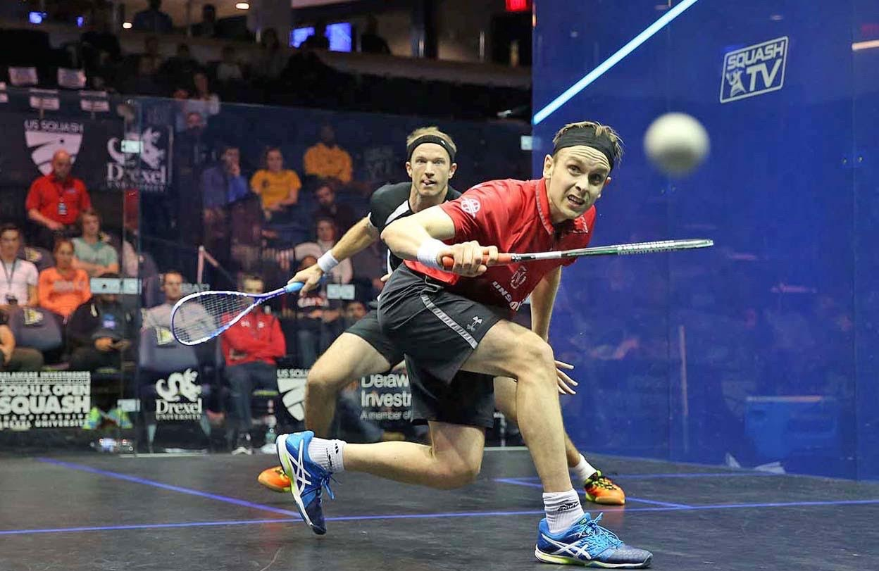 James Willstrop in action against Steve Coppinger