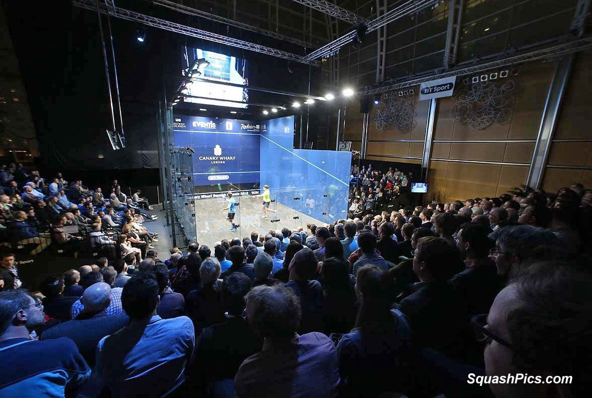 squash mad canary wharf sells out five months ahead of tournament